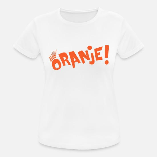 Orange T-shirts - Orange! - Sports T-shirt dame hvid