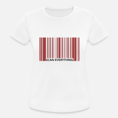 Scan Funny Barcode Scan Todo - Camiseta mujer transpirable