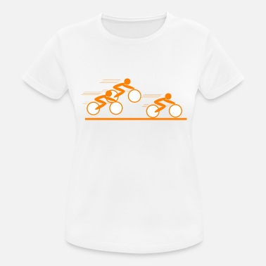 Radrennen Stickman Radrennen orange - Frauen Sport T-Shirt