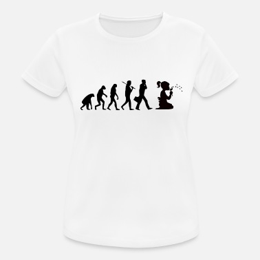 Silhouette Girl Silhouettes girl with flower - Women's Breathable T-Shirt