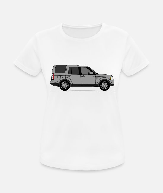 Offroad Vehicles T-Shirts - Discovery 4 Gray - Women's Sport T-Shirt white