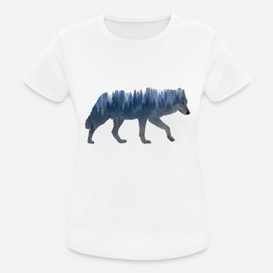 Forest Animal T-Shirts - Wolf forest - Women's Sport T-Shirt white