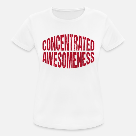 Birthday T-Shirts - Concentrated Awesomeness for Short People with - Women's Sport T-Shirt white