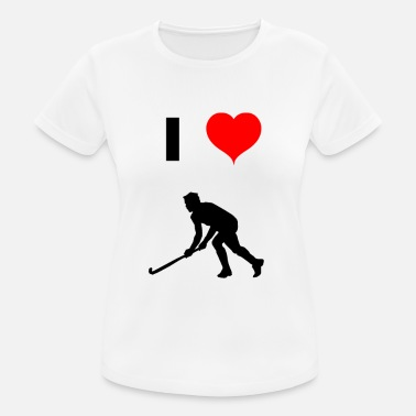 I Love Ice Hockey I love ice hockey - Women's Breathable T-Shirt