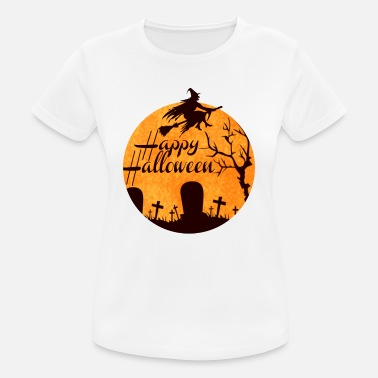 Haunted Happy Halloween - Carnival, scary, horror time - Women's Sport T-Shirt