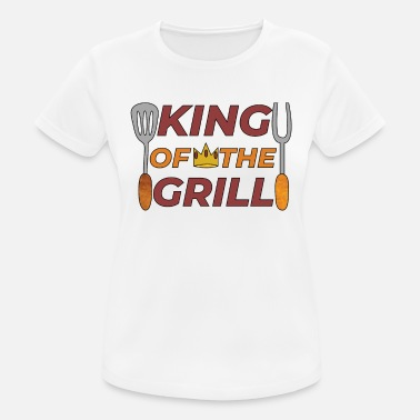 Glut Pitmaster BBQ Barbecue food grill Put my meat in your mouth and swallow design grill king - Women's Breathable T-Shirt