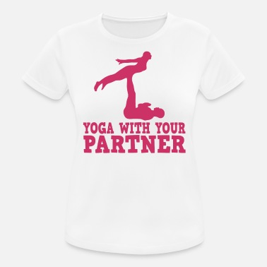 Acro Yoga Lovely and Relaxing Acro Yoga Tshirt Design Yoga Partner - Camiseta deportiva mujer