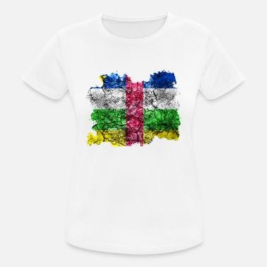 Central African Republic Central African Republic vintage flag - Women's Breathable T-Shirt