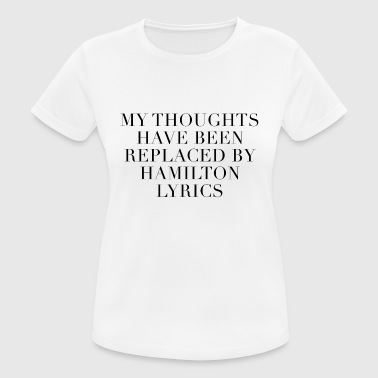 Hamilton The Musical Lyrics - Women's Breathable T-Shirt