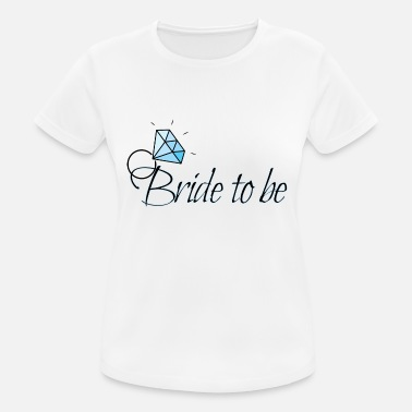 Bride Bride to be with diamond ring - Women's Sport T-Shirt