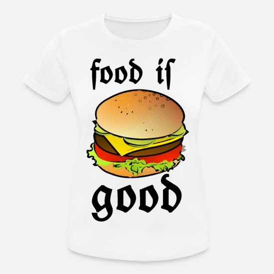 Fast Food T-Shirts - Funny, Food, Snack, Snack, Sayings Fun, - Women's Sport T-Shirt white