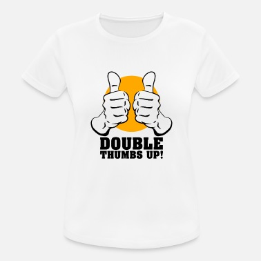 Thumbs Pointing At Me Thumbs up - Women's Sport T-Shirt