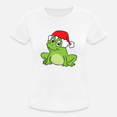 Toad Frog With Santa Hat Funny Frogs Merry Christmas - Women's Sport T-Shirt
