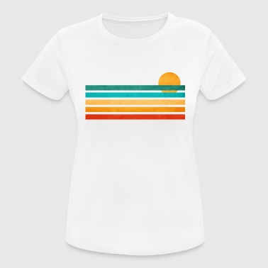 Summer sea lines illustration - Women's Breathable T-Shirt