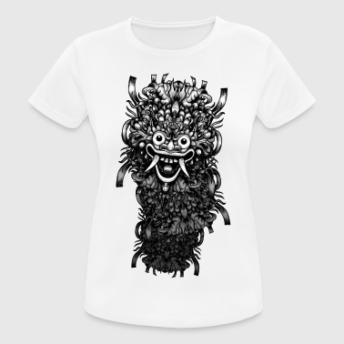 Black And White Collection Bali Maske - Frauen T-Shirt atmungsaktiv
