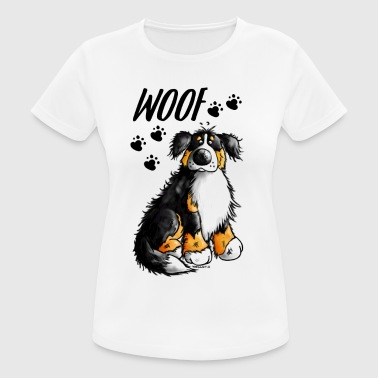 Woof Bernese Mountain Dog - Women's Breathable T-Shirt