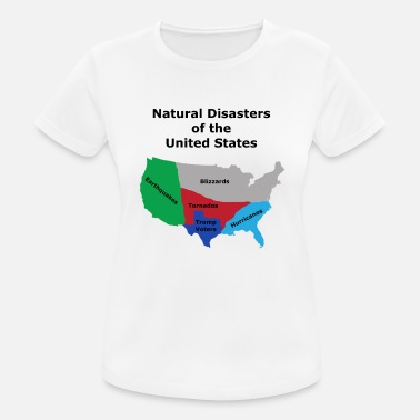 Anti Amerika Naturkatastrophen der USA - Anti Trump Design - Frauen Sport T-Shirt