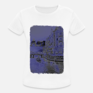 Bootboy Holland boat Bootboy Amsterdam Netherlands canal - Women's Breathable T-Shirt