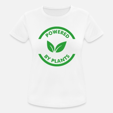 Power Plant Powered by Plants Gift - Women's Sport T-Shirt