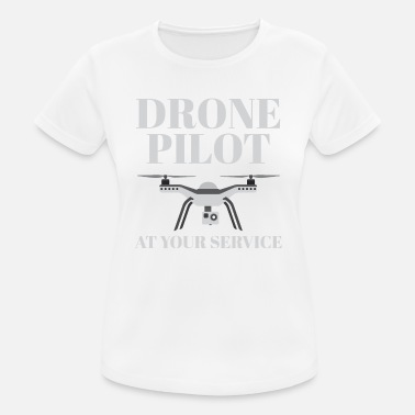 Car Service Drone Pilot At Your Service - Women's Breathable T-Shirt