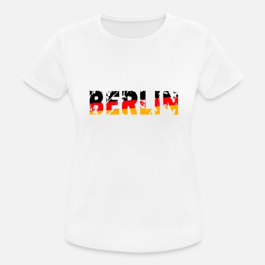 Berlin Germania National Colors Fan Shirt Cool - Maglietta sportiva donna
