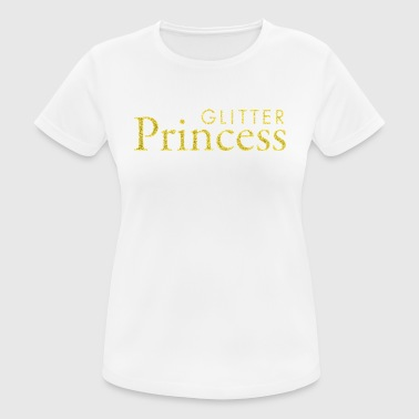 Glitter Princess Gold - Pustende T-skjorte for kvinner