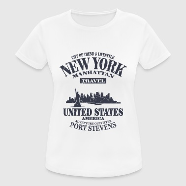 New York  - Vintage Look - Frauen T-Shirt atmungsaktiv
