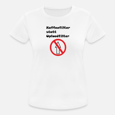 Upload Anti-upload filter - vrouwen T-shirt ademend