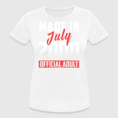 Made In July 2000 Official Adult - Frauen T-Shirt atmungsaktiv