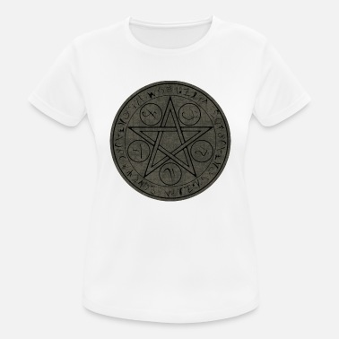 Ritual Pentacle runes Wicca witches symbol occult - Women's Sport T-Shirt