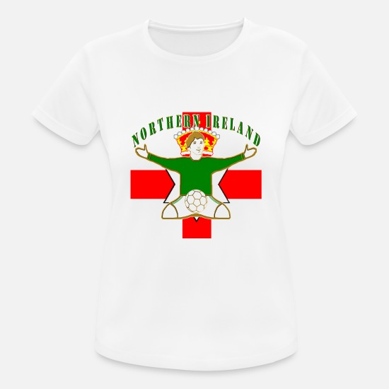 International Uk Football Design T-Shirts - northern ireland football celebration design - Women's Sport T-Shirt white
