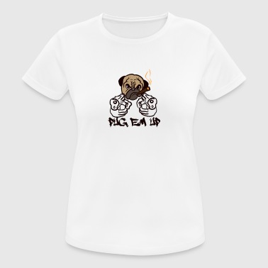 DOGS | PUG EM UP - Women's Breathable T-Shirt