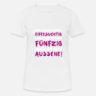 e68915a43bfe62 Tshirt 50 Geburtstag Damen lustiger Spruch Frauen Premium T-Shirt ...