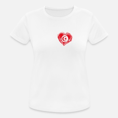 Tunisia I Love Home Country Flag Roots Tunisia - Women's Breathable T-Shirt