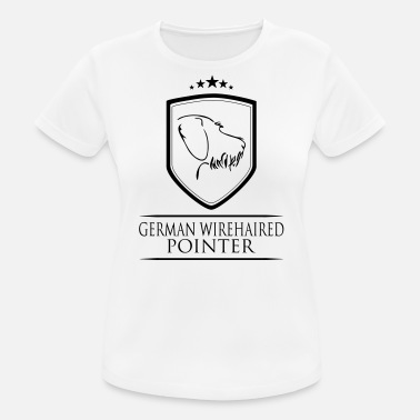 German Wirehaired Pointer GERMAN WIREHAIRED POINTER COAT OF ARMS - Women's Breathable T-Shirt