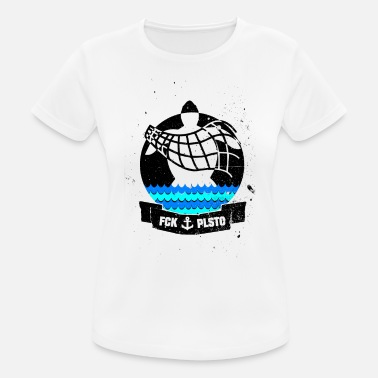 Recycling Recycling - against plastic - turtle - Women's Sport T-Shirt