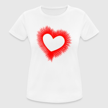 rood hart rood hart Valentine's Day liebe9 - vrouwen T-shirt ademend
