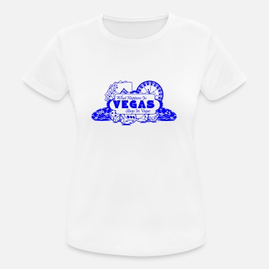 What Happens In Vegas WHAT HAPPENS IN VEGAS BLUE IN VEGAS - Women's Breathable T-Shirt