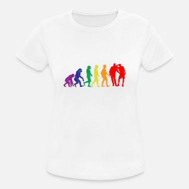 Gay Sex Gay sex evolutie gift gay gaypride - vrouwen T-shirt ademend