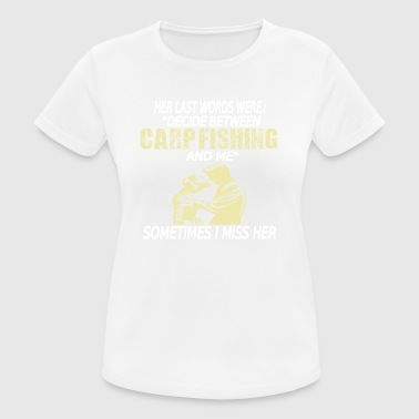 Carpfishing carp fishing carp fishing carp - Women's Breathable T-Shirt