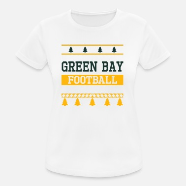 Green Bay Packers Ugly Sweater Green Bay - Maglietta da donna traspirante
