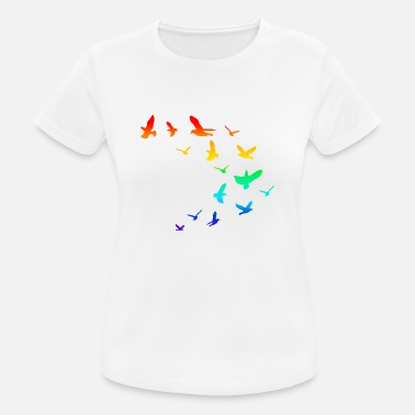 Flock Of Birds Flock of birds birds rainbow - Women's Breathable T-Shirt