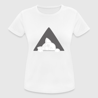 Boring Cute Bored Cat Peeking Triangle Poison - Women's Breathable T-Shirt