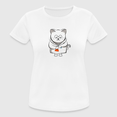 The Cation Ions Are Pawsitive Chemistry Cat - Women's Breathable T-Shirt