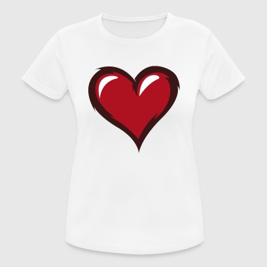 red heart red heart valentine valentine's day5 - Women's Breathable T-Shirt