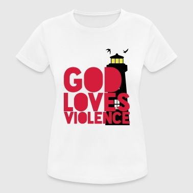God loves Violence! Shutter Island movie quote - Women's Breathable T-Shirt