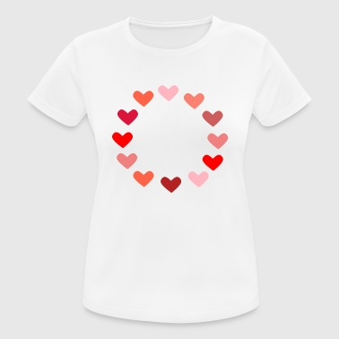 rood hart rood hart Valentine's Day liebe7 - vrouwen T-shirt ademend