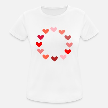 Hart rood hart rood hart Valentine's Day liebe7 - vrouwen T-shirt ademend