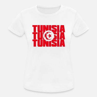 Flag Of Tunisia TUNISIA in COUNTRY COLORS FLAG FLAG - Women's Breathable T-Shirt
