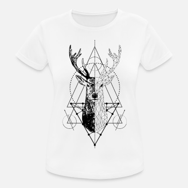 Stag Symbol Geometric stag - Women's Breathable T-Shirt
